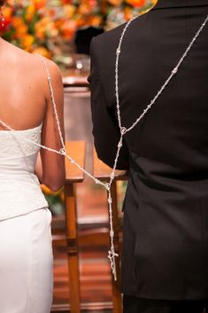 Bride and Groom Encircled In Traditional Rosary