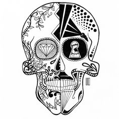 Mexican Skull on Behance #mexican #skull #tattoo #draw #drawing #art #artist #illustration
