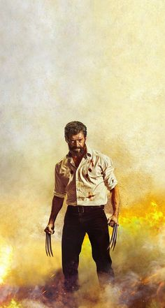 "This is Hugh Jackmen as you now, I like him because he played in the ""x-men"" movies until He was the best marvel character for me. He can reganerate his injured part of his body and he has those cool claws. Hq Marvel, Marvel Heroes, Dc Comics, X Men, Comic Movies, Comic Books, Hugh Wolverine, Wolverine Poster, Hugh Michael Jackman"