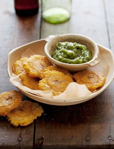 [[Tostones con Mojo]]   I have made these for YEARS... A Colombian friend of ours taught me how to prepare this fantastic dish, just never found the same recipe online (until now.) Wanted to share on of our family favorites.