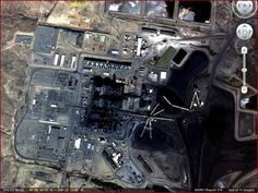 """Aerial view of secret """"Dulce Base"""" in New Mexico, U.S.A."""