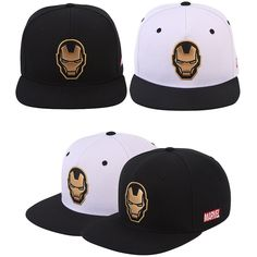 Mens Women Marvel Avengers Civil War Ironman Mask Face Baseball Snapback Hat Cap #Marvel #BaseballSnapbackCapHats