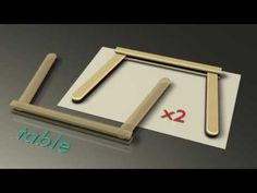Popsicle house instructions, Part 9 - The Table - YouTube