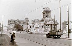 Gendarmenmarkt, East Berlin, 11 September 1959 The bombed ruin of one of the twin churches in Gendarmenmarkt, East Berlin.