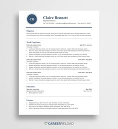 21 Best Free Resume Templates images in 2019 | Free resume, Free ...