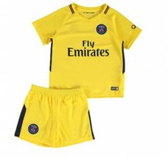 2017 Cheap Youth Kit PSG Away Replica Yellow Suit [AFC603]