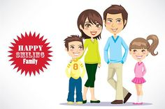 Happy Smiling Family by Kakigori Studio on @creativemarket