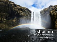 Daily challenge. . . . . . #devonstrang #wordoftheday #wotd #word #words #wordporn #dictionary #language #definition #shoshin #practice #see #seeing #life #live #wonder #wonderful #beauty #beautiful #nature #daily #challenge #motto #waterfall...