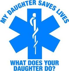 """""""My Daughter Saves Lives"""" Exterior Window Decal. 9 Awesome Gifts for Dad of Nurses #Nursebuff #Nurse #Gifts"""