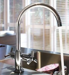 GROHE Atrio: Two-handle kitchen mixer. #kitchen #mixer #trend See more at http://www.grohe.co.uk/en_gb/kitchen/design-trends-choose-the-right-kitchen-tap.html