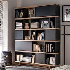 The Balance Modular Bookcase in grey, from the very creative designers at Vox, is part of a fabulous range of versatile furniture. A unique combination of boxes and shelving provides a bespoke modern storage unit that will create a home for your treasured Modular Furniture, Design Furniture, Living Furniture, White Furniture, Modern Furniture, Office Furniture, Furniture Storage, Furniture Ideas, Vintage Furniture