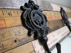 Susie Harris: Wooden Rulers make the best projects! - Wall Hooks