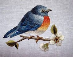 free thread painting patterns | This is Trish Burr's blue bird, which is included in Trish's DVD ...