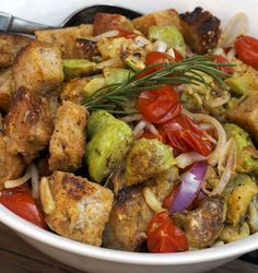 Panzanella With Roasted Squash and Tomatoes