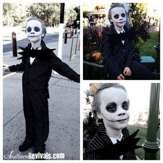 Southern Revivals: Walmart Gangster Turned Jack Skellington Halloween Costume Tutorial