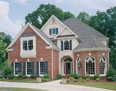 Eplans New American House Plan - Enchanting French Country - 4049 Square Feet and 5 Bedrooms from Eplans - House Plan Code HWEPL08300