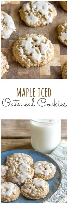 Super Soft Maple Iced Oatmeal Cookies