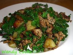 Italian Sausage without onion or garlic - and a meal to go with it.