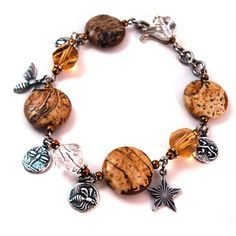 Tutorials   Picture Jasper Charm Bracelet   Beading & Jewellery Making Tutorials