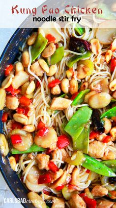 Kung Pao Chicken Noodle Stir Fry made tastier and healthier at home WITH slurp-worthy noodles and on your table in 20 minutes!
