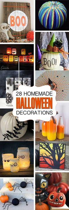 25 Cheap DIY Halloween Decorations - DIY Halloween Inspiration on - how to make homemade halloween decorations