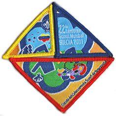 3 piezas. Insignia representativa del Circulo de Coleccionista en el 22 Jamboree Mundial, celebrado en Suecia 2011.