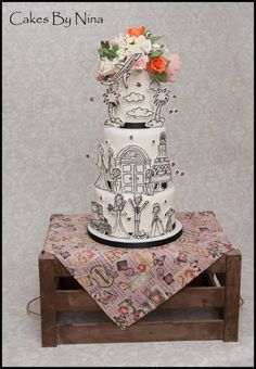 Whimsie Wedding - Cake by Cakes by Nina Camberley