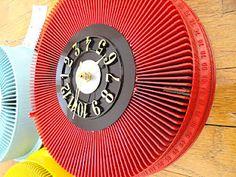 old slide carousel clock