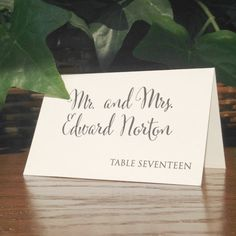 Personalized Tented Place Cards for Wedding Reception Dinner with ...