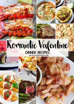 Don't go out, stay in & cook with your sweetie. These Romantic Valentine Dinner Recipes are sure to make your Valentine's Day the best ever. dinner for her Romantic Valentine Dinner Recipes - Easy Holiday Ideas Night Dinner Recipes, Fancy Dinner Recipes, Romantic Dinner Recipes, Dinner Party Menu, Romantic Meals, Healthy Dinner Recipes, Birthday Dinner Recipes, Romantic Picnics, Valentines Day Dinner