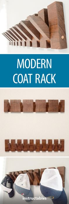 Modern Coat Rack #woodworking