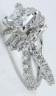 Fine Rings The Cheapest Price Asscher Corte Certificado De Gia Anillo De Compromiso Diamante 3.50 Ct 18ct Oro