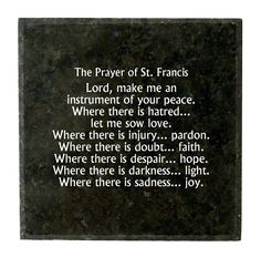 Granite Block- The Prayer of St. Francis ** Details can be found by clicking on the image. (This is an affiliate link) #Plaques