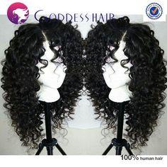 Brazilian full lace wig curly human hair wigs glueless full lace human hair wigs black color cheap wig human hair RPG show