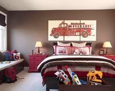 Boys Bedroom Firetruck!