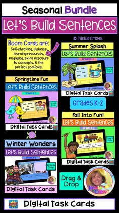 Reading Resources, Reading Activities, Classroom Resources, Grammar Activities, Literacy Stations, Creative Teaching, Task Cards, Teacher Appreciation, Phonics