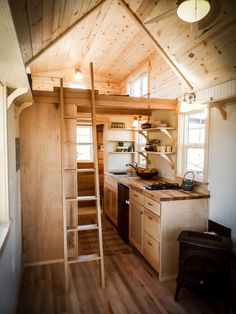 Kitchen and Loft - Payette by Greenleaf Tiny Homes