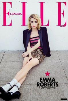 Emma Roberts for Elle Canada Magazine (June 2014)