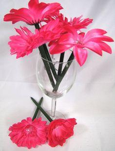 Pink Silk Flower Pens