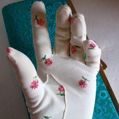 Embroidered vintage gloves