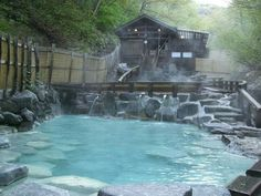 Some hot springs are so good you never forget them. For me, the Zao Dairotenburo Hot Spring in Yamagata prefecture is one of those. Japanese Bath House, Japanese Spa, Japanese Culture, Spring Aesthetic, Aesthetic Japan, Onsen Japan, Monuments, Hotels, Houses
