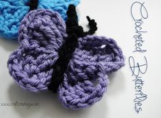 Cute and easy Crocheted Butterflies. Free Pattern. #craftcravings #crochet #freepattern