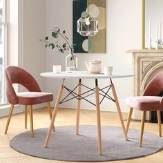 Ebern Designs Atmore Pedestal Dining Table | Wayfair Table And Chairs, Side Chairs, Dining Chairs, Dining Room, Dining Area, Kitchen Dining, Modern Contemporary Living Room, All Modern, Pedestal Dining Table