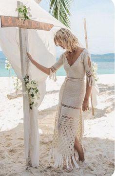 Boho Crochet, Crochet Skirts, Crochet Fashion, Crochet Clothes, Knit Crochet, Crochet Summer, Crochet Tops, Boho Dress, Knit Dress