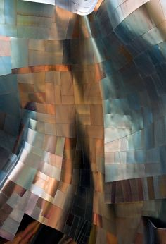 Exterior shot of Frank Gehry's EMP Museum in Seattle, Washington by photographer Andrew Prokos.
