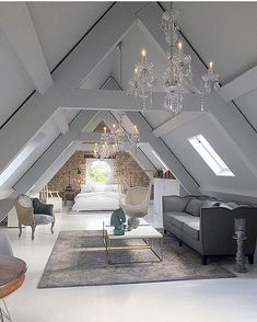 When your attic is a masterpiece!! @andrew.c.park . Design by Jimmie Martin Interior Decorators and Designers. #design #attic #ceiling #ceilinggoals #woodbeams #brick #exposedbrick