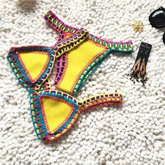 2017 Fashion Solid Chochet Handmade Elegant Durable Europe America Molded Padded Neoprene Triangle Bikini Swimwear Triangle Bikini Neoprene Triangle Bikini Neoprene Triangle Bikini Swimwear Online with $28.34/Piece on Zhaoyu815's Store | DHgate.com