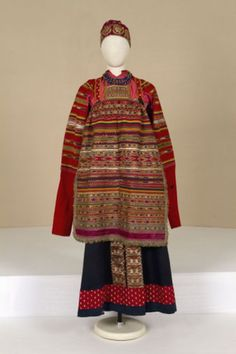 ol< Festive femail dress. Second half of the 19th century. Russians. Moskow district.