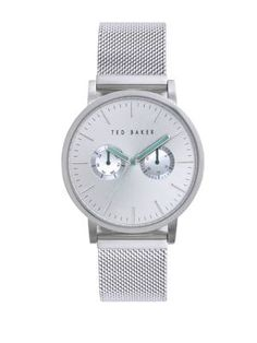 576a3caa92291 TED BAKER Mens Stainless Steel Mesh Strap Watch.  tedbaker