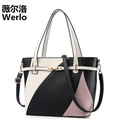 a8ff227ab034 WERLO Brand 2017 New Designer Women Bags Totes Fashion Shoulder Bags Luxury Leather  Female Handbags Zipper
